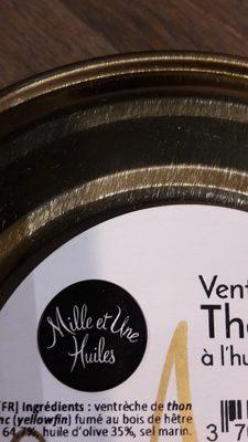 Ventreche de thon fumé à l'huile d'olive - Ingredienti - fr