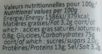 Crackers Olive & Basilic - Informations nutritionnelles - fr