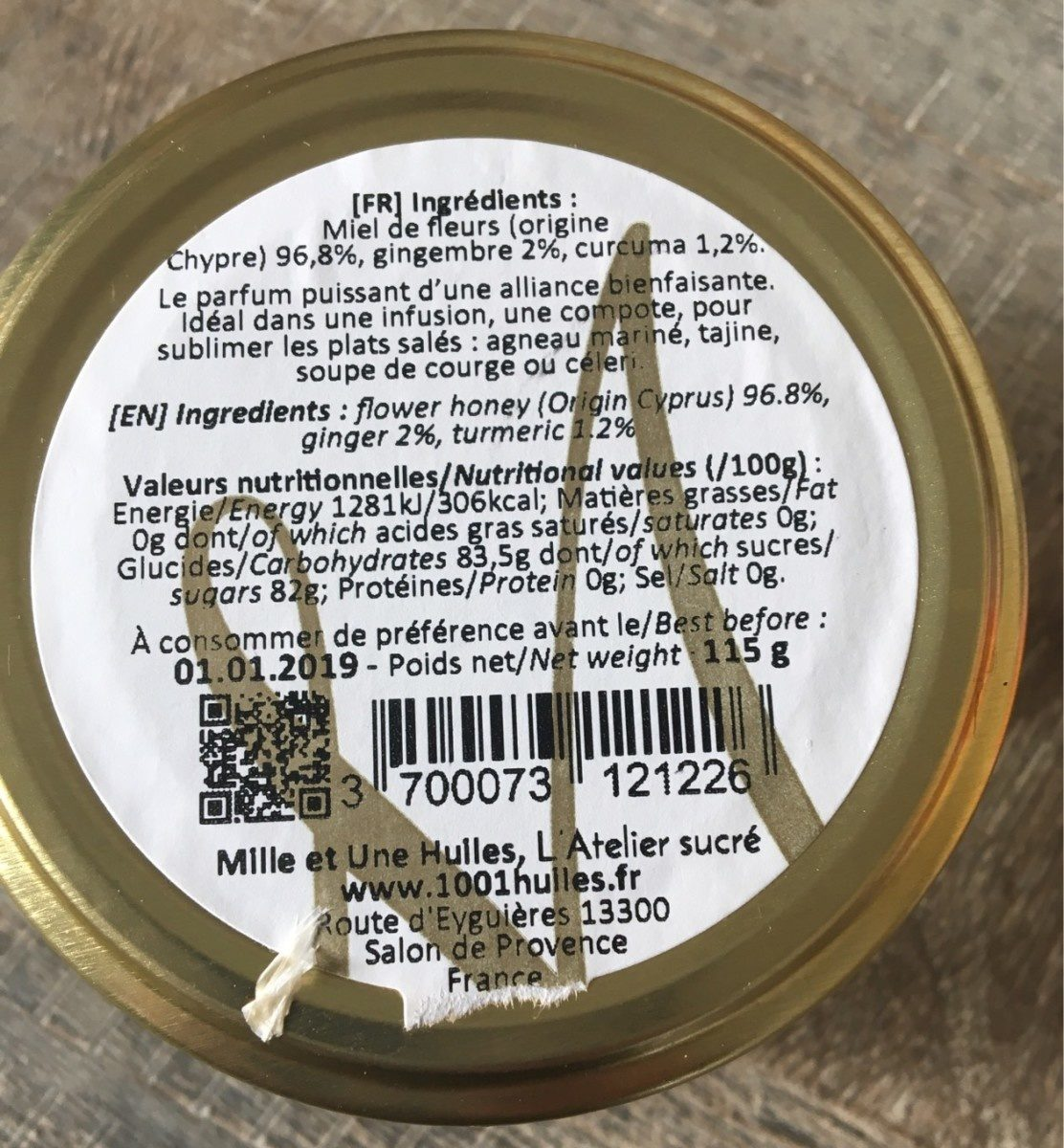 Miel curcuma gingembre - Product - fr