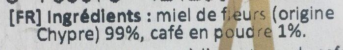 Miel & café - Ingrediënten - fr