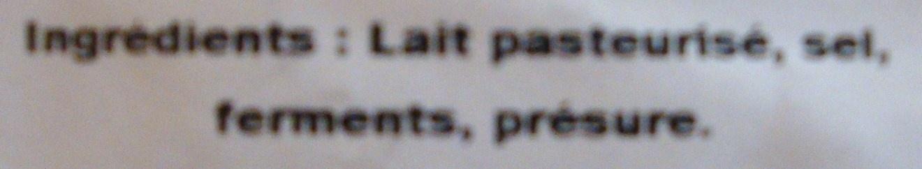 Neufchâtel Levasseur - Ingredients - fr