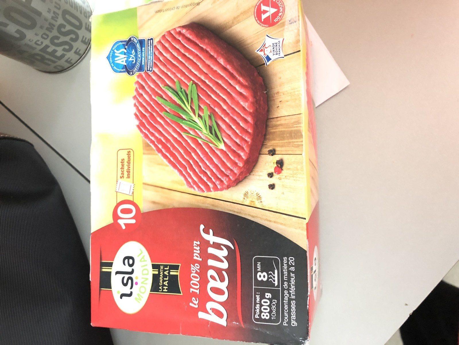 Steaks hachés surgelés Le 100% pur Boeuf - Ingrédients