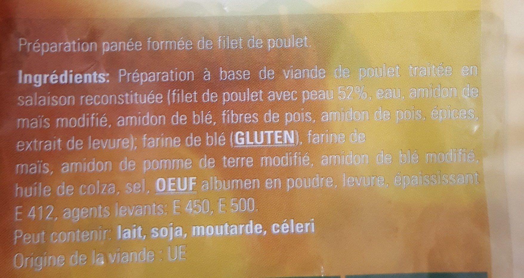 Escalope poulet halal AVS - Ingredients