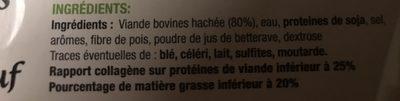 Steak haché Le Maxi Tendre - Ingrédients