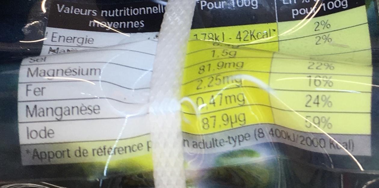 Huîtres de Normandie - Nutrition facts