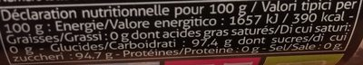 Decors mini billes - Voedingswaarden - fr