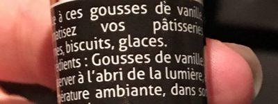 2 gousses de vanille - Ingrediënten