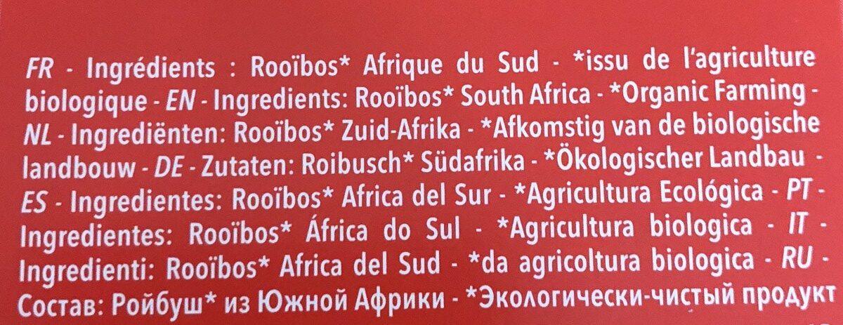 Infusion bio rooibos - Ingrediënten - fr