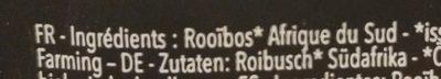 The ROUGE AF DU SUD ROOIBOS - Ingredients