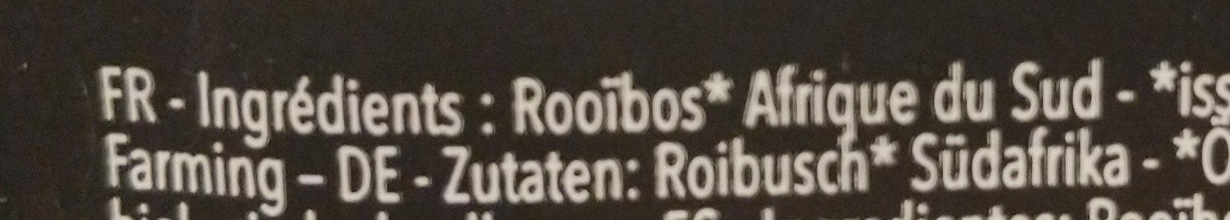 The ROUGE AF DU SUD ROOIBOS - Ingredientes - fr