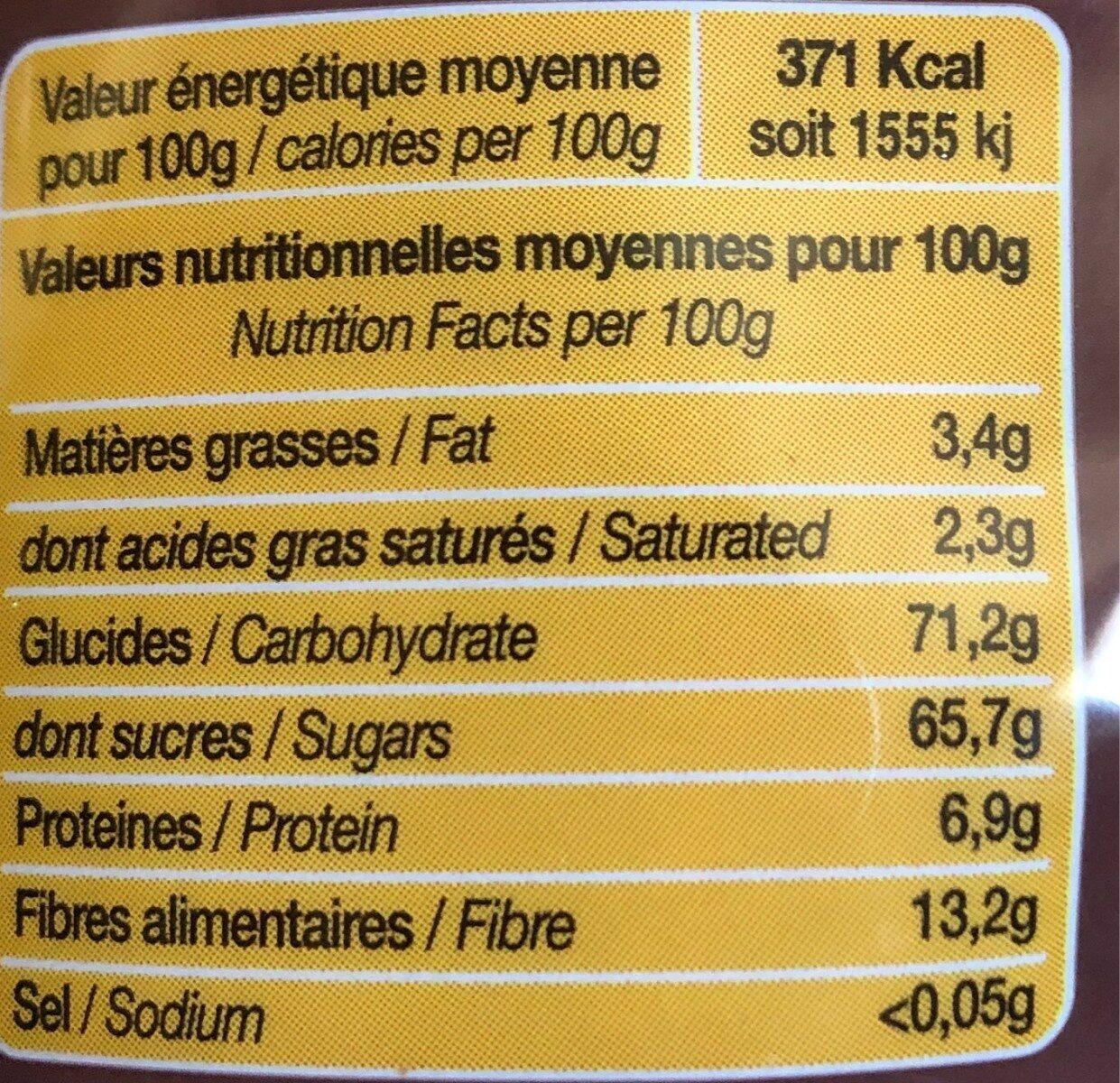Instant choco - Informations nutritionnelles - fr