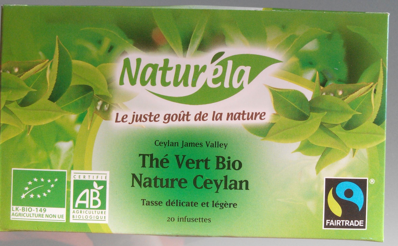 Thé vert bio nature Ceylan - Product - fr