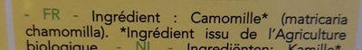 Infusion camomille bio - Ingrediënten