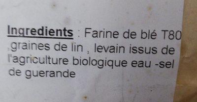 pain au lin - Ingredienti - fr