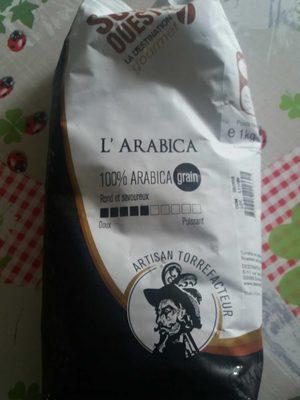 L'Arabica Café en grains Rond et savoureux. Intensité 5. - Product