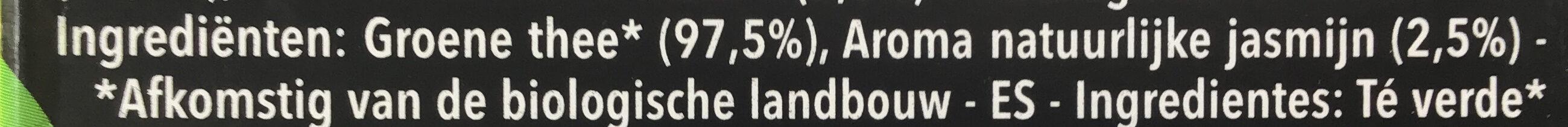 Thé vert jasmin - Ingrediënten - nl