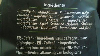 Café en grains 100 % arabica - Ingrediënten - fr