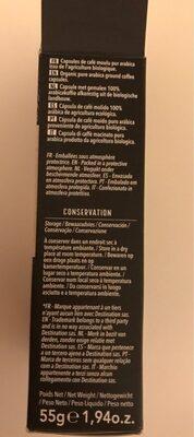 Sélection pour arabica (capsules) - Nutrition facts - fr