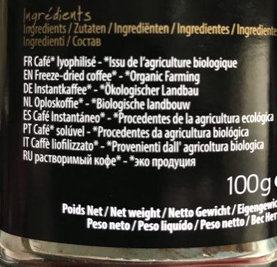 Cafe Instantane - Ingrediënten