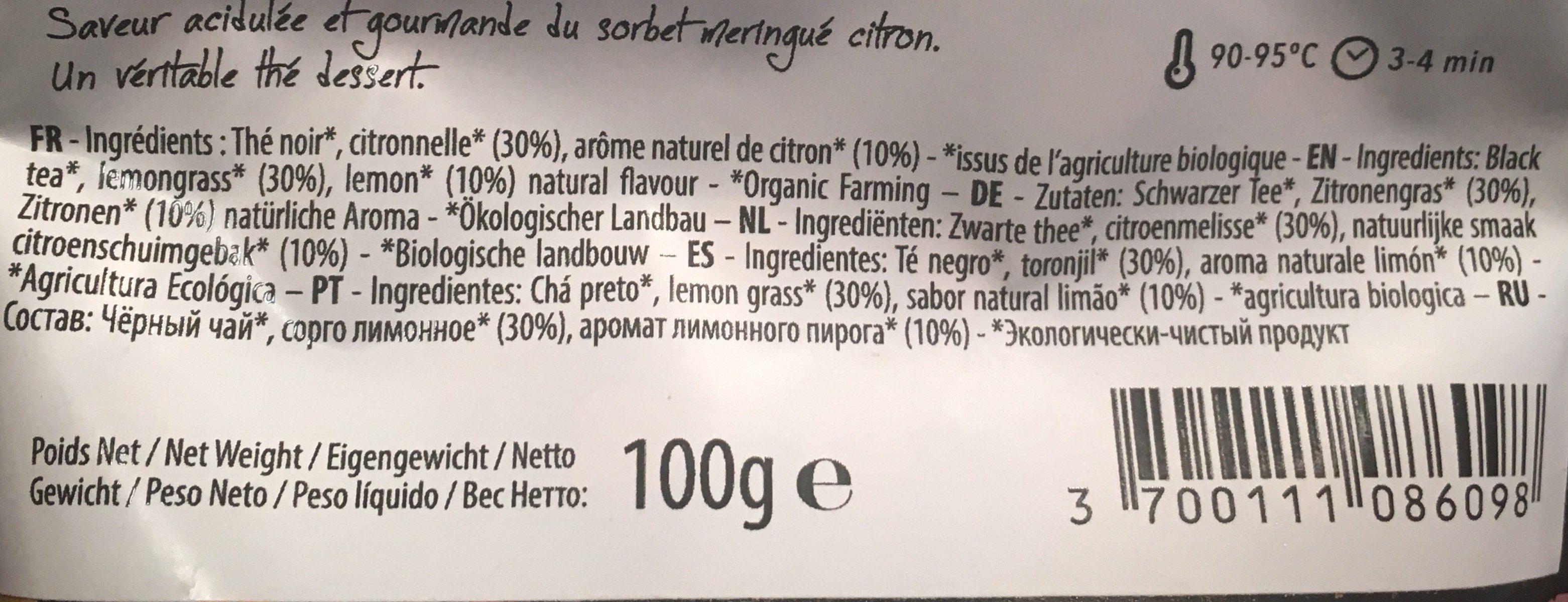 Epicerie / Thé Bio Et équitable / Thé Parfumé - Ingrédients - fr