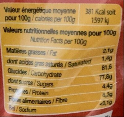 Choco kids - Nutrition facts - fr