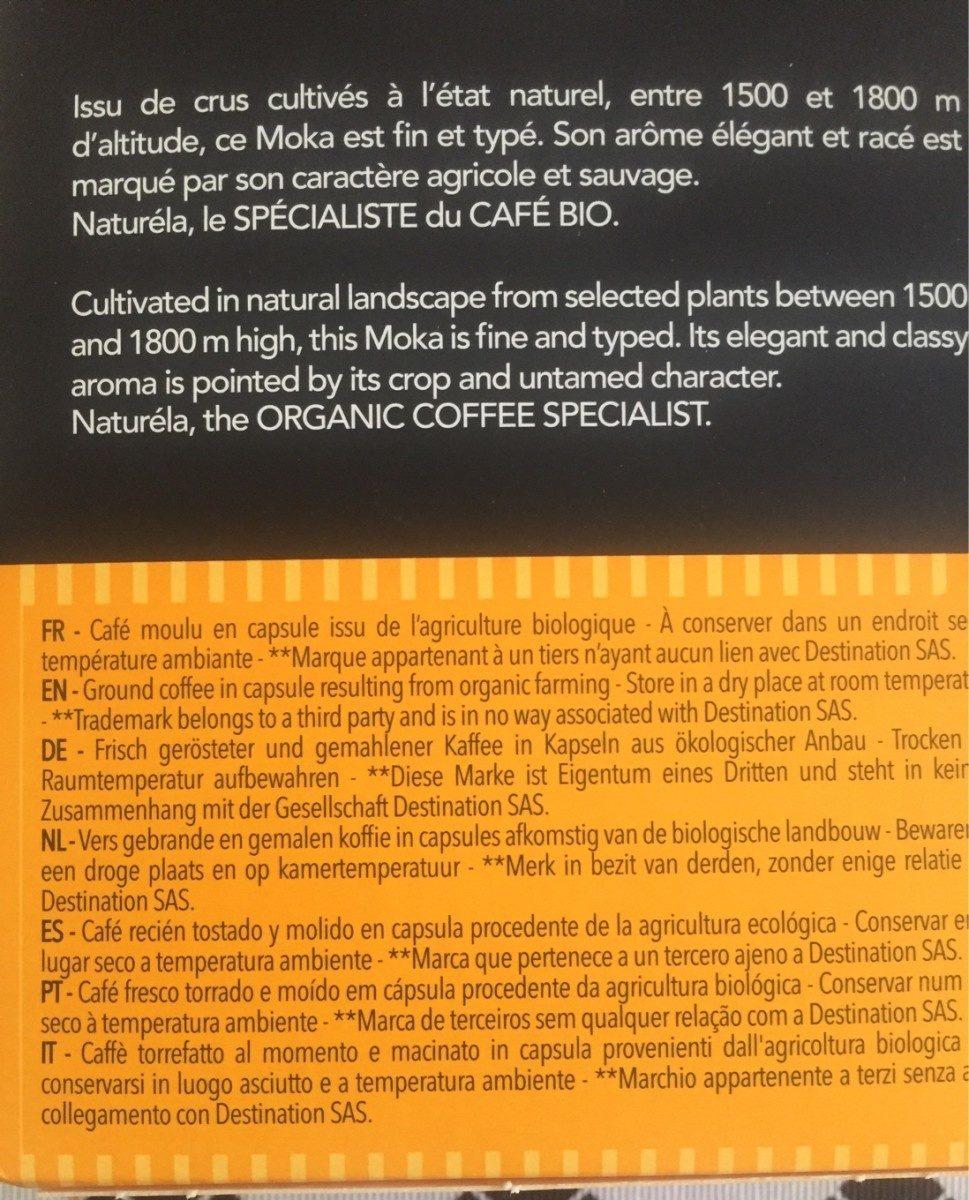 Capdules biospresso moka - Ingrediënten - fr