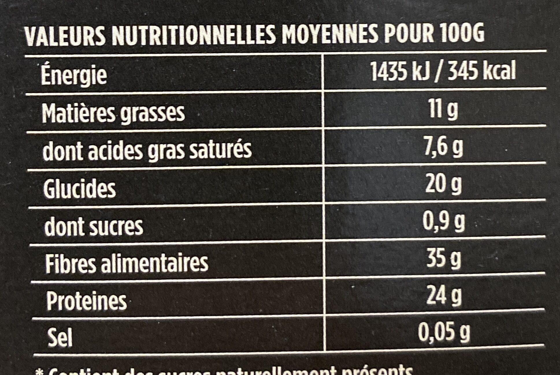 Poudre de cacao maigre - حقائق غذائية - fr