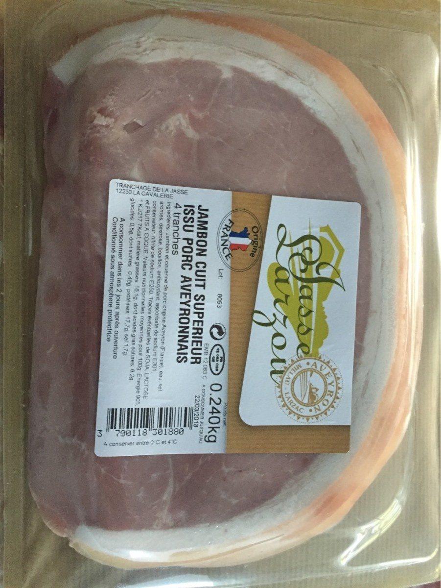 Jambon cuit superieur issu porc aveyronnais - Product