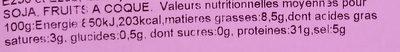 Jambon de pays espagne - Informations nutritionnelles - fr