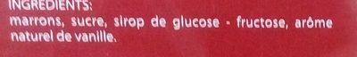 Marrons glacés recette confiseur - Ingrédients