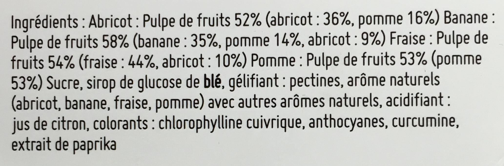 Lapinou Pâtes de Fruits - Ingredients - fr