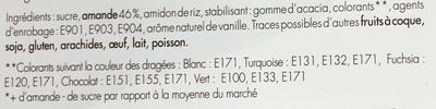 Les Dragées - Les Classiques au cœur d'Amande - Ingredients - fr
