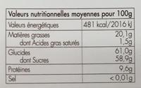 Les Dragées - Les Classiques au cœur d'Amande - Nutrition facts - fr