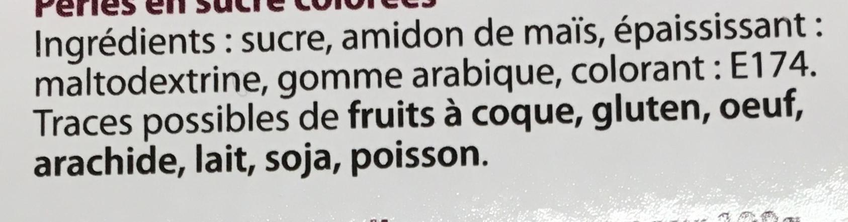 Les Dragées Perles d'Argent - Ingrédients - fr