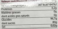 Les Dragées Perles d'Argent - Informations nutritionnelles - fr