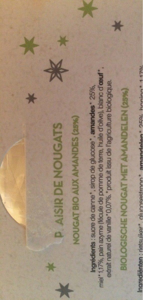 Plaisir de nougats - Ingredients
