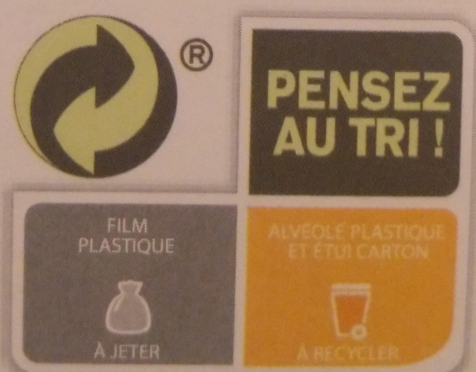 Pâtes de fruits - Instruction de recyclage et/ou informations d'emballage - fr