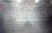 Farandole de saveurs 36 pâtes de fruits Motta - Ingrédients - fr