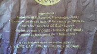 Galzin Pain long aveyronnais la pièce de 450 gr - Ingredienti - fr