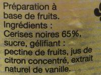 Confirure cerise noire - Ingredients - fr
