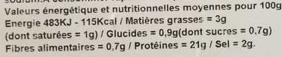 Jambon cuit superieur - Voedingswaarden - it