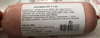 Saicisson cuit a l ail - Produit - fr