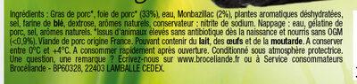 Mousse de foie Bien Elevee Broceliande - Ingrédients - fr