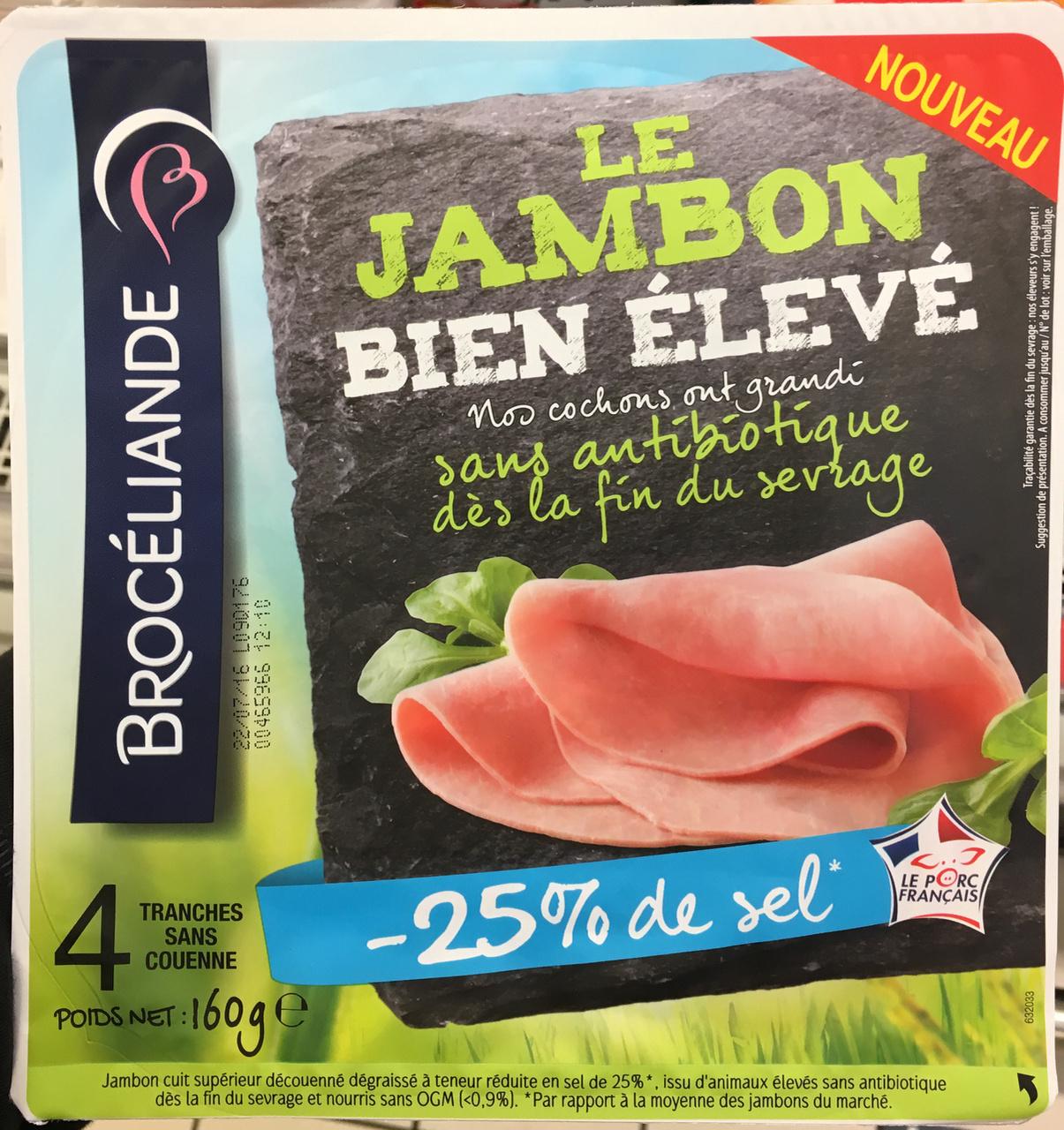 Le Jambon bien élevé (-25% de sel) - Produit