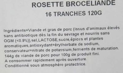 Rosette - Ingrediënten