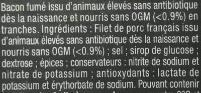 Bacon - Ingredientes - fr