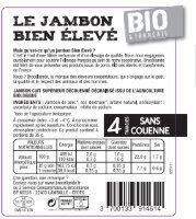 Jambon bio & français, Bien Élevé, Brocéliande - Ingrédients - fr