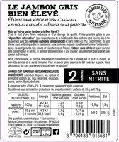 Le Jambon Gris Bien Élevé - Ingredients - fr