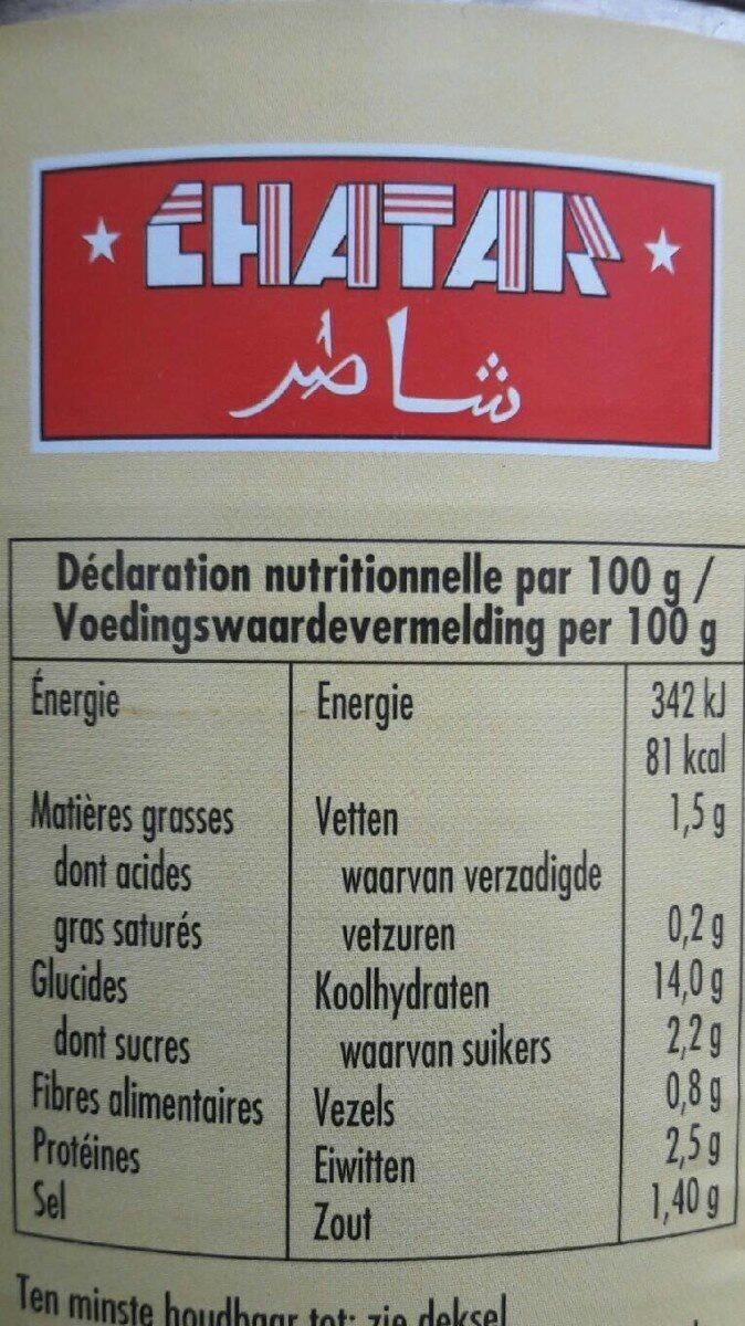 Ravioli viande boeuf halal - Nährwertangaben - fr