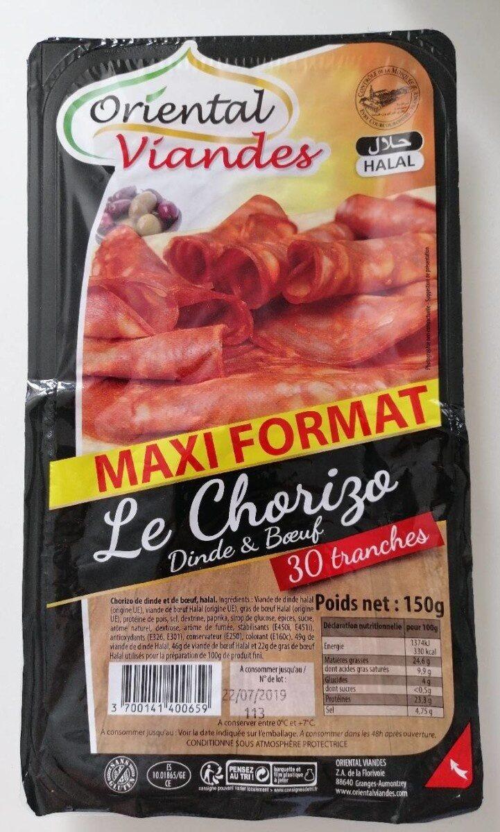 Oriental viandes chorizo 30 tranches - Product